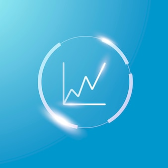 Symbole de graphique d'analyse d'affaires icône graphique croissante