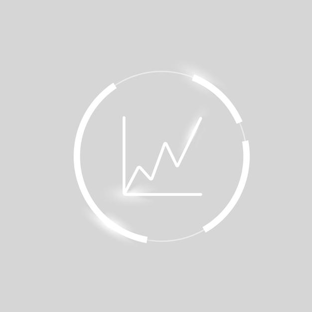 Symbole de graphique d'analyse commerciale d'icône de graphique de plus en plus