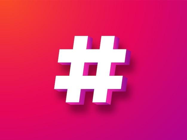 Symbole hashtag