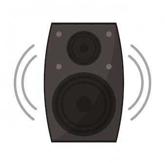 Symbole de haut-parleur de musique