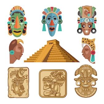 Symbole historique de la culture maya, idoles de la religion