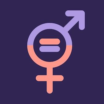 Symbole des hommes et des femmes. symbole de l'égalité des sexes. les femmes et les hommes devraient toujours avoir des chances égales. illustration vectorielle. plat.