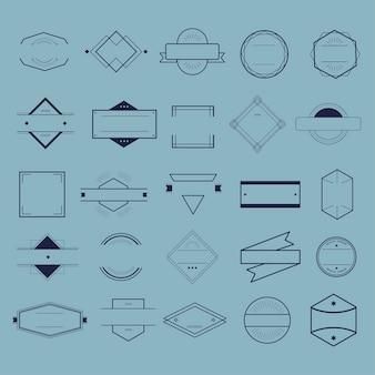 Symbole de l'icône badge logo collection concept