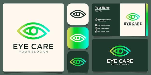 Symbole d'icône de conception de logo de vision oculaire