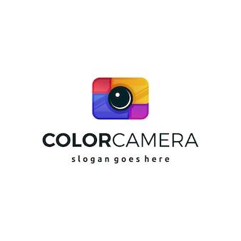 Symbole d'icône logo appareil photo coloré