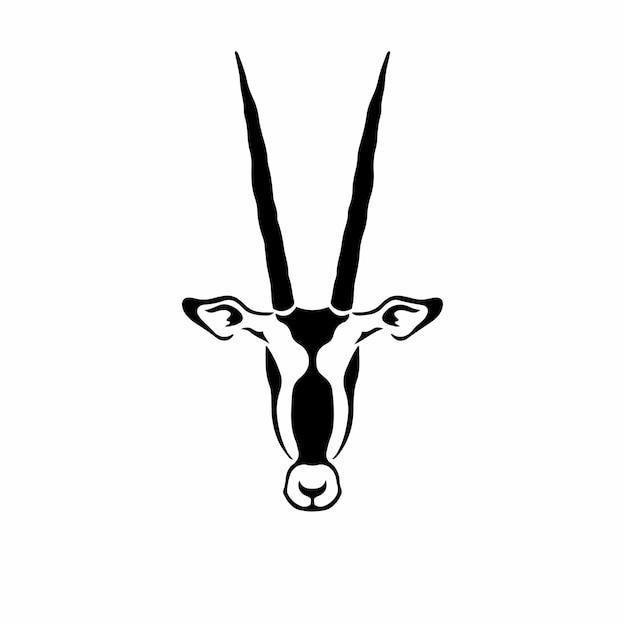 Symbole impala logo conception tatouage pochoir illustration vectorielle