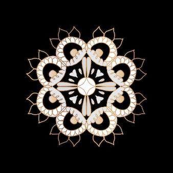 Symbole indien de fleur de mandala oriental