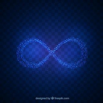 Symbole infini avec effet brillant