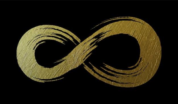 Symbole de l'infini grunge doré