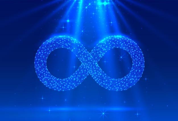 Symbole de l'infini signe électronique, réseau technologique numérique. illustration vectorielle
