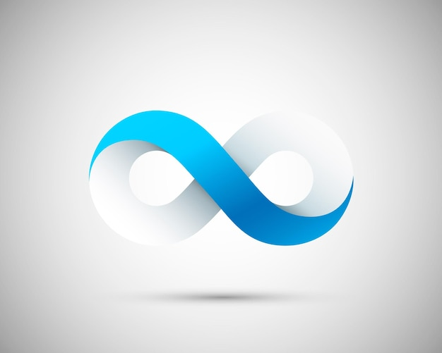 Symbole d'infos sur l'art à l'infini. illustration vectorielle