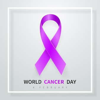 Symbole de la journée mondiale du cancer le 4 février