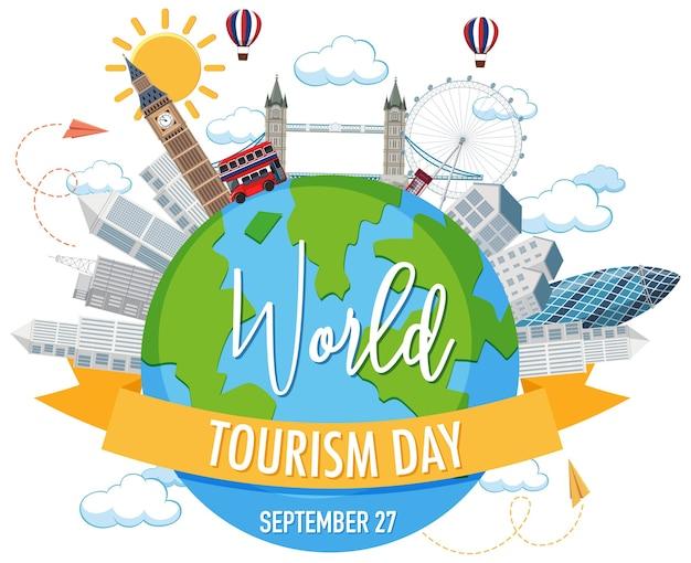 Symbole de la journée mondiale du tourisme