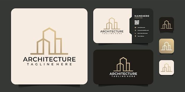 Symbole de logo de bâtiment d'architecture de monogramme créatif pour l'entreprise de construction résidentielle