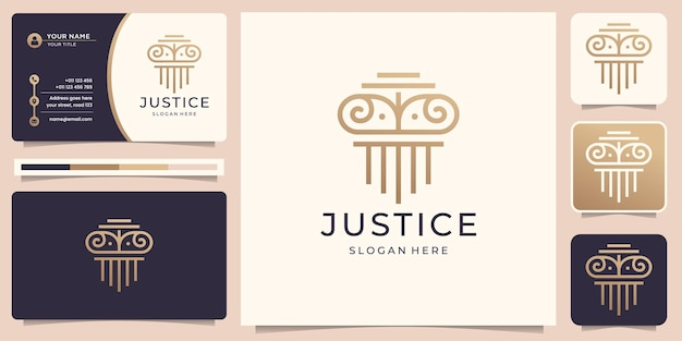 Symbole de la loi de la justice premium