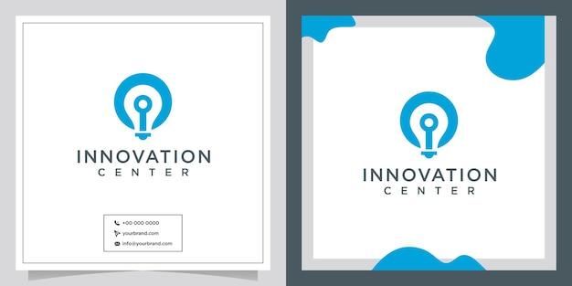 Symbole de lumière d'innovation de logo de conception précoce