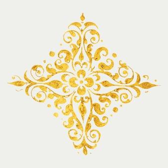 Symbole médiéval d'insigne d'emblème d'or