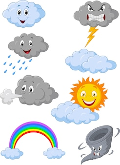 Symbole de météo de dessin animé