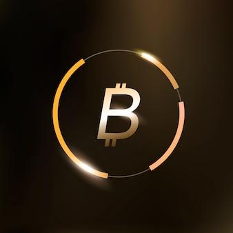 Symbole de monnaie d'argent icône bitcoin