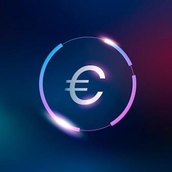 Symbole de monnaie euro signe vecteur argent
