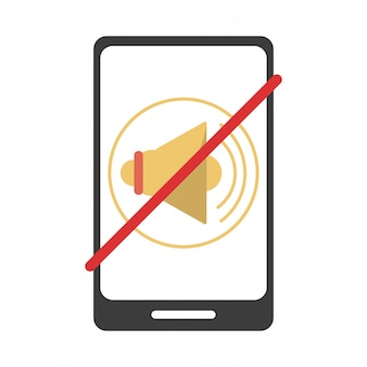 Symbole muet smartphone