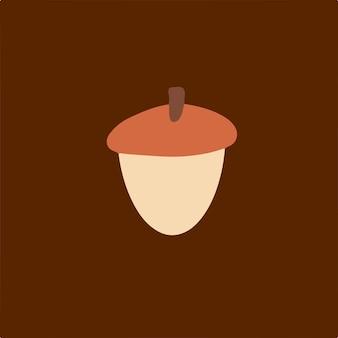 Symbole noix gland médias sociaux post illustration vectorielle