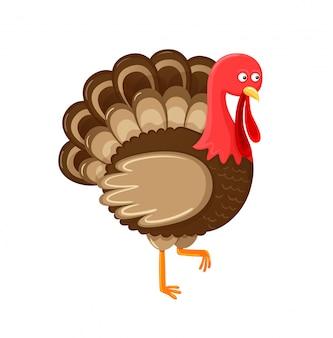 Symbole de l'oiseau de vecteur de thanksgiving isolé