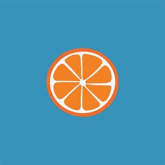 Symbole orange fruits médias sociaux post alimentation saine illustration vectorielle