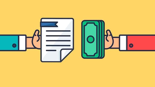 Symbole de paiement et de document