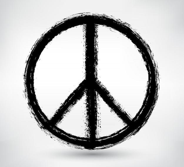 Symbole de la paix dans le style grunge