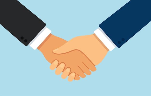 Symbole de partenariat et d'accord de poignée de main d'icône de poignée de main