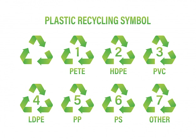 Symbole de recyclage. recyclage du plastique, idéal pour toutes les utilisations. recycler le symbole de recyclage. illustration.