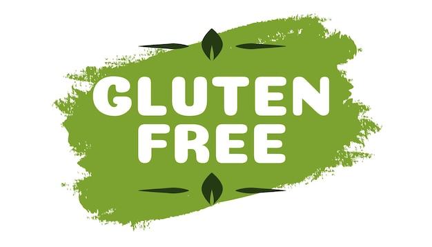 Symbole sans gluten pour les produits naturels aliments sains aliments frais produits biologiques aliments végétaliens ferme frais