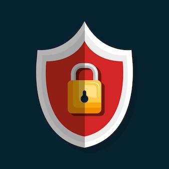 Symbole de sécurité cadenas isolé icône