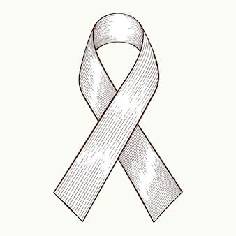 Symbole de sensibilisation au cancer, vecteur de style dessiné à la main