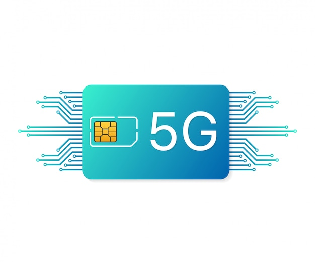 Symbole de la technologie de télécommunications mobiles.