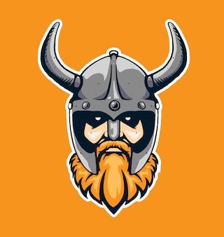 Symbole tête viking