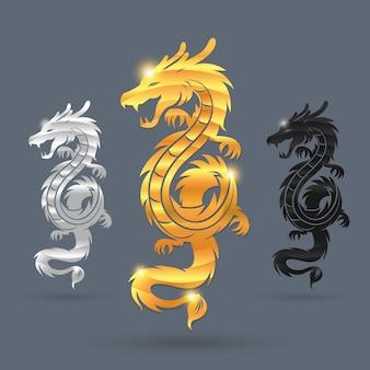 Symbole de trois dragons