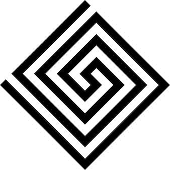 Symbole vecteur clé grecque. vecteur et illustration.
