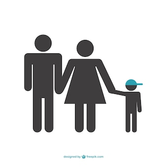 Symbole de vecteur de famille