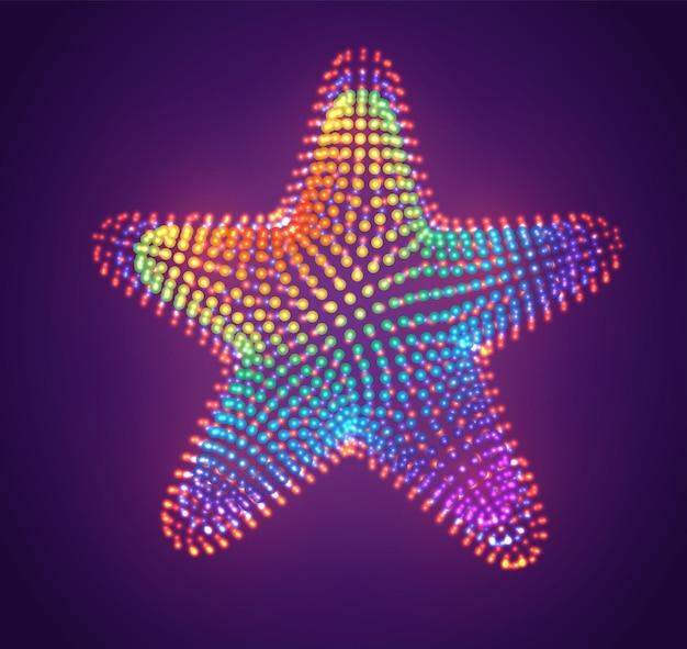 Symbole de vecteur de points lumineux, dégradé arc-en-ciel