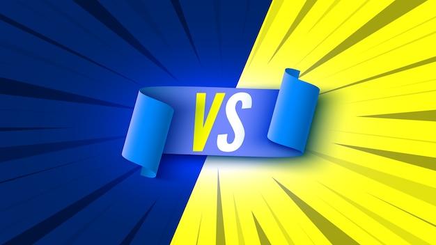 Symbole versus avec ruban bleu.
