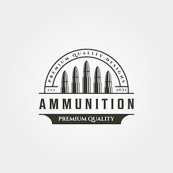 Symbole vintage de munitions icône logo