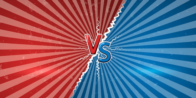 Symbole vs de versus. croquis de la bannière du défi