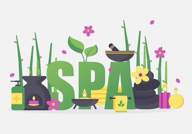Symboles et accessoires de spa