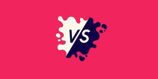 Symboles d'affiche lumineux de confrontation vs illustration vectorielle