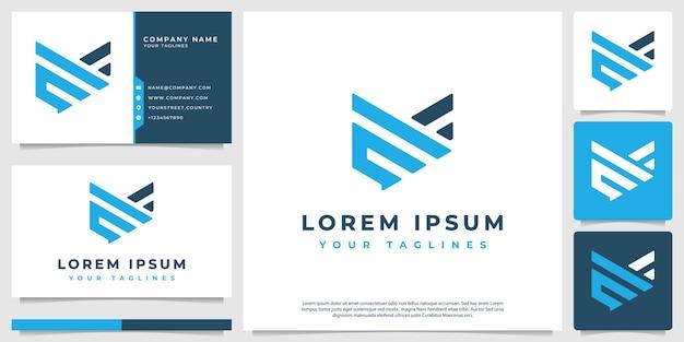 Symboles d'aile de logo vectoriel abstrait