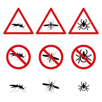 Les symboles anti-moustiques et acariens définissent des icônes