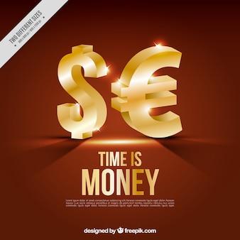Symboles de l'argent fond