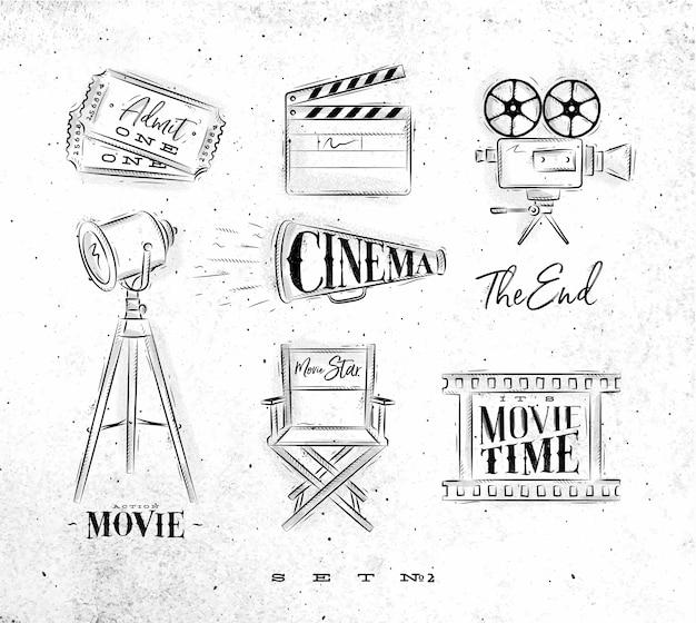Symboles de cinéma charbon